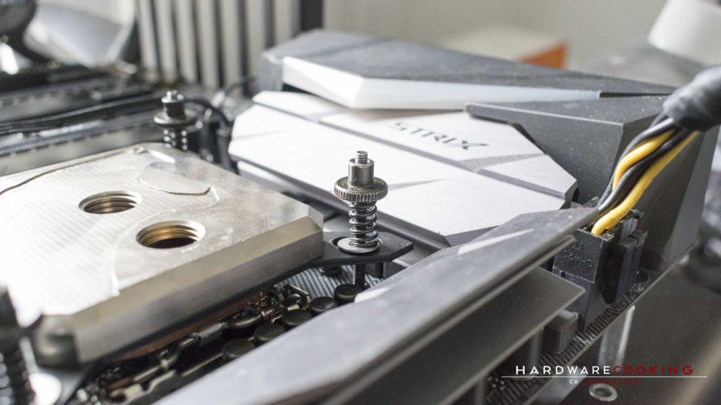 Test waterblock CPU Hybrid Cooling Modding HCM Crystal fixation