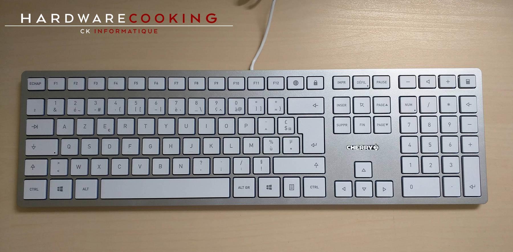 Test clavier CHERRY KC 6000 SLIM