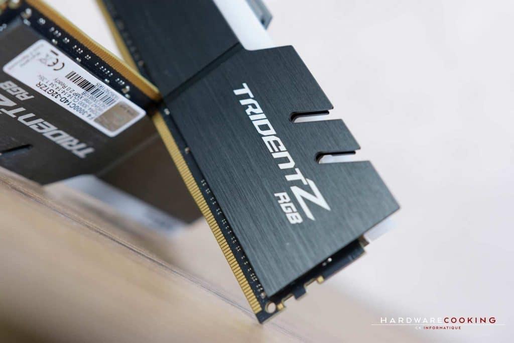 Test mémoire DDR4 G.SKILL TRIDENT Z RGB 2x16 Go 3000 MHz CAS 14
