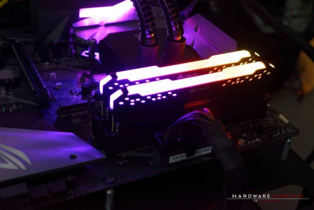 Test mémoire Corsair Vengeance RGB PRO DDR4 2 x 8 Go 3200MHz CAS 16
