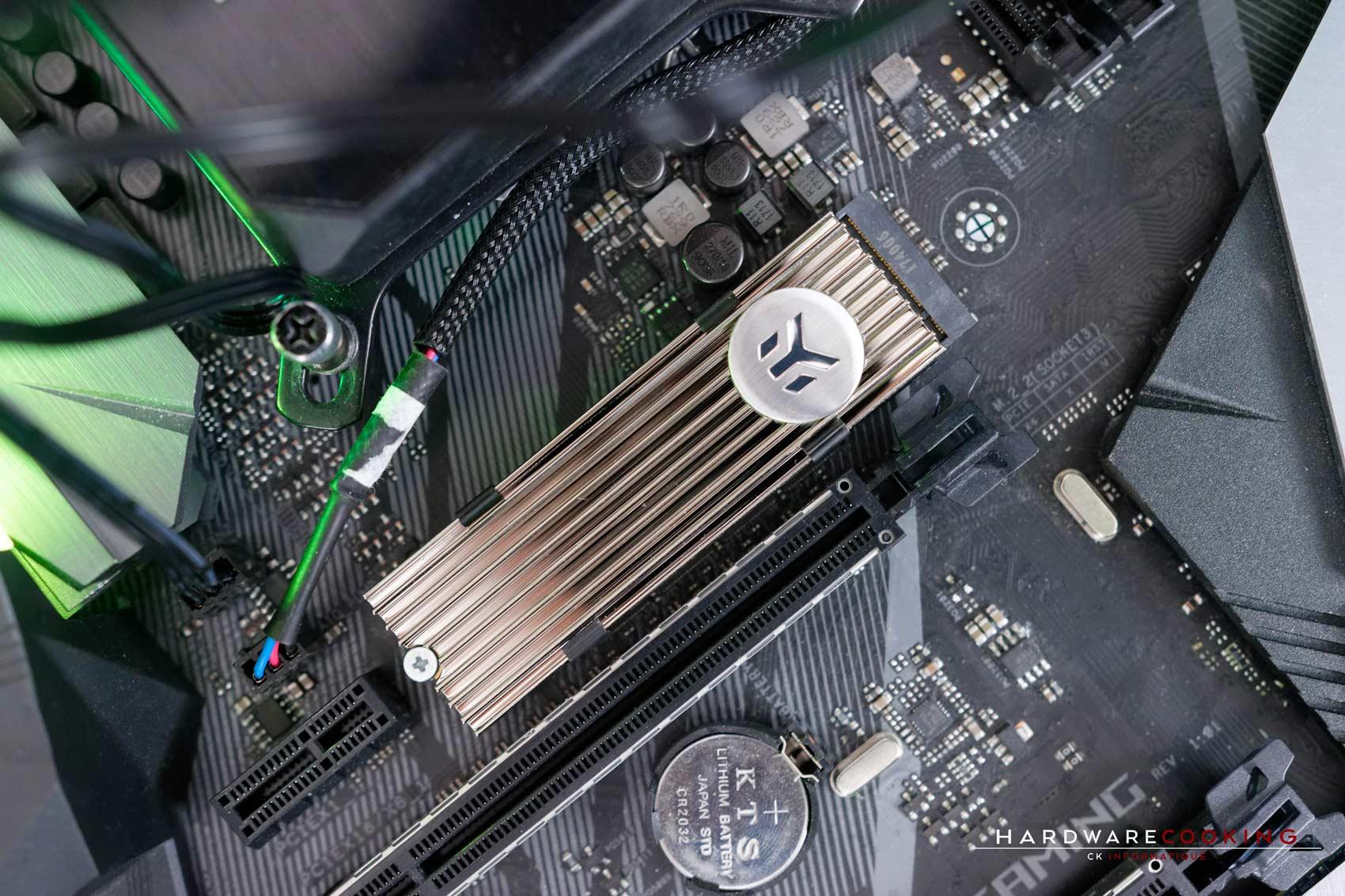 Test SSD Samsung 970 Pro 1 To dissipateur thermique EK NVMe