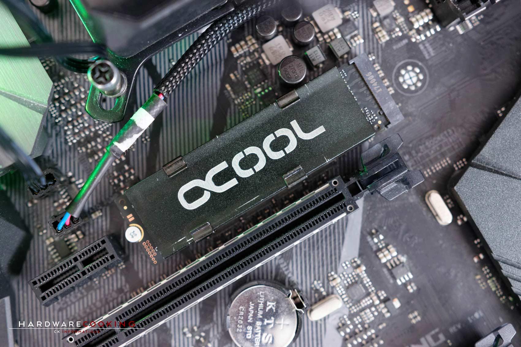 Test SSD Samsung 970 Pro 1 To dissipateur thermique Alphacool HDX