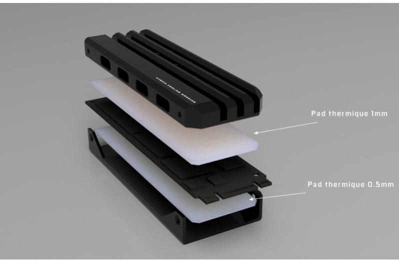 dissipateur thermique SSD M.2 HCM PRO EVO.Z