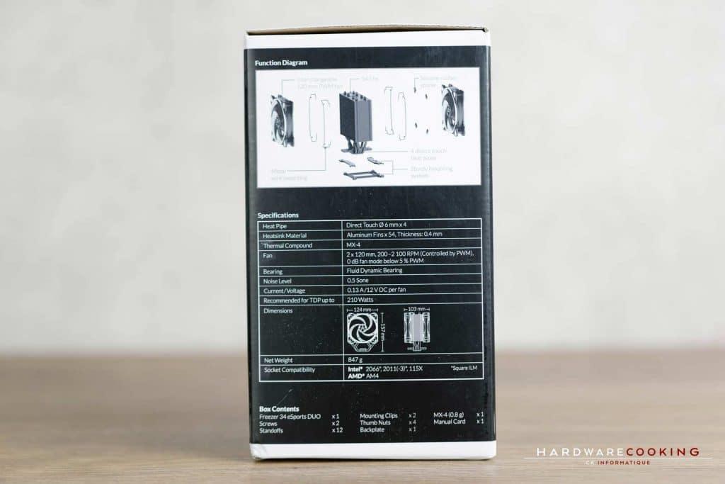 Test ventirad Arctic Freezer 34 eSports DUO