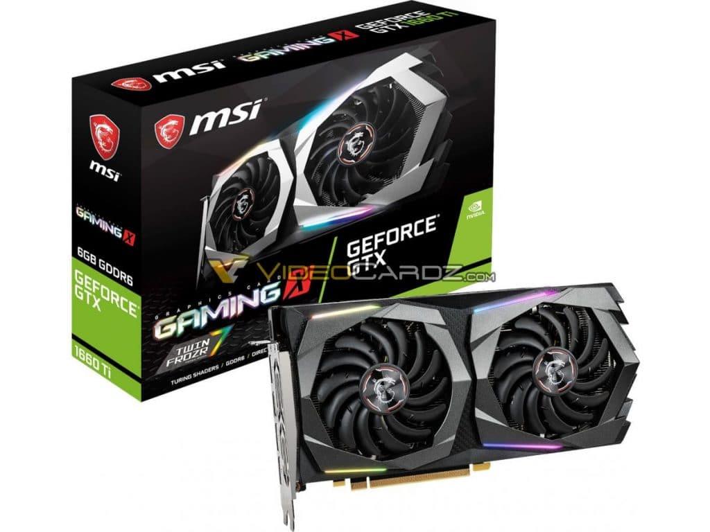 MSI GeForce GTX 1660 Ti Gaming X