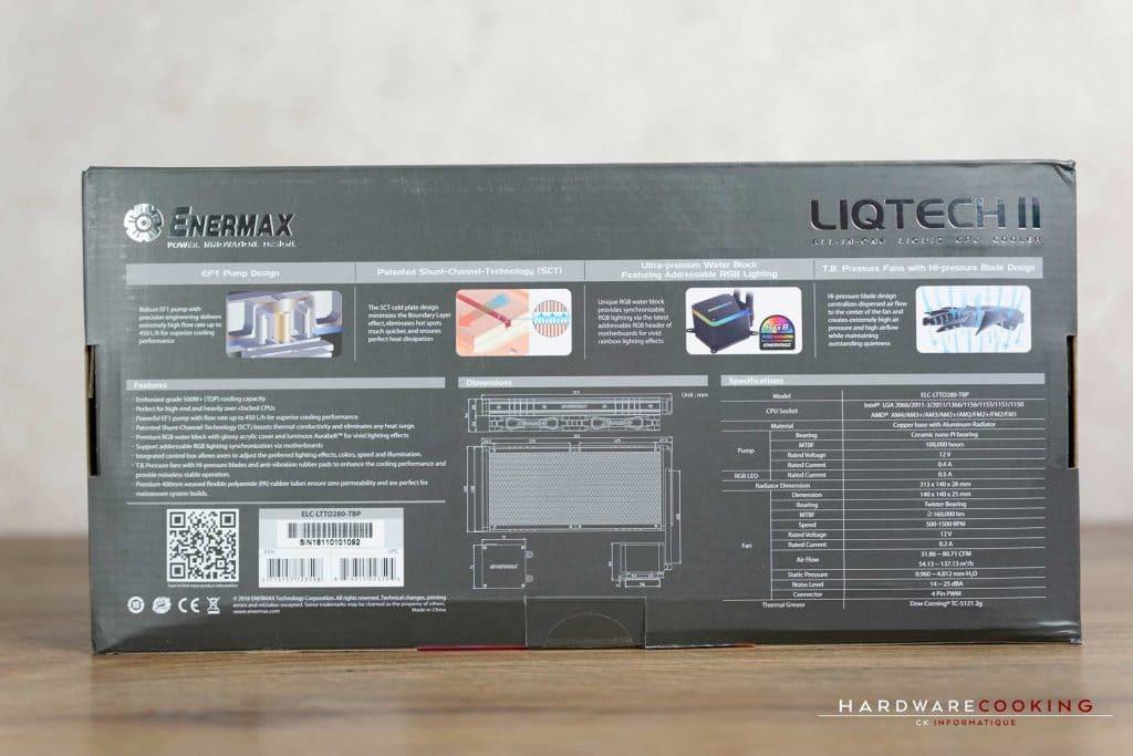 Test AiO Enermax LiqTech II 280 mm RGB