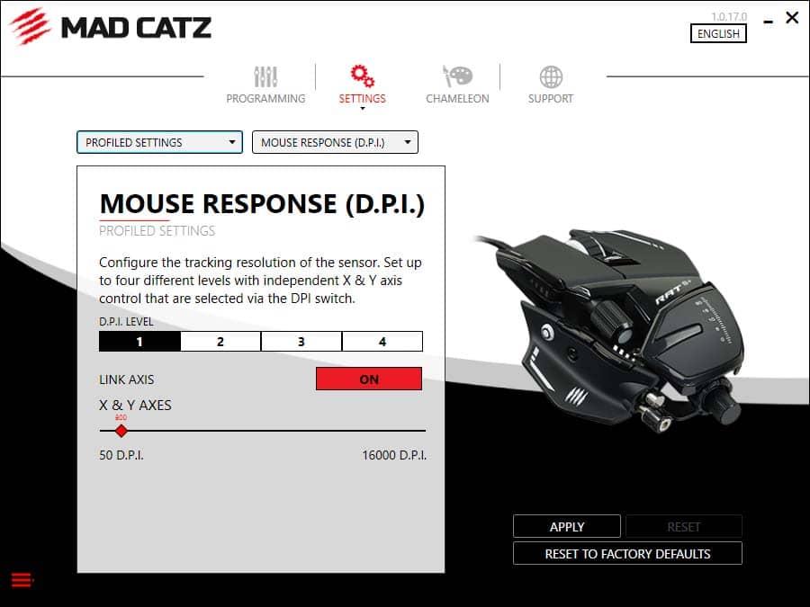Test souris Mad Catz RAT 8+