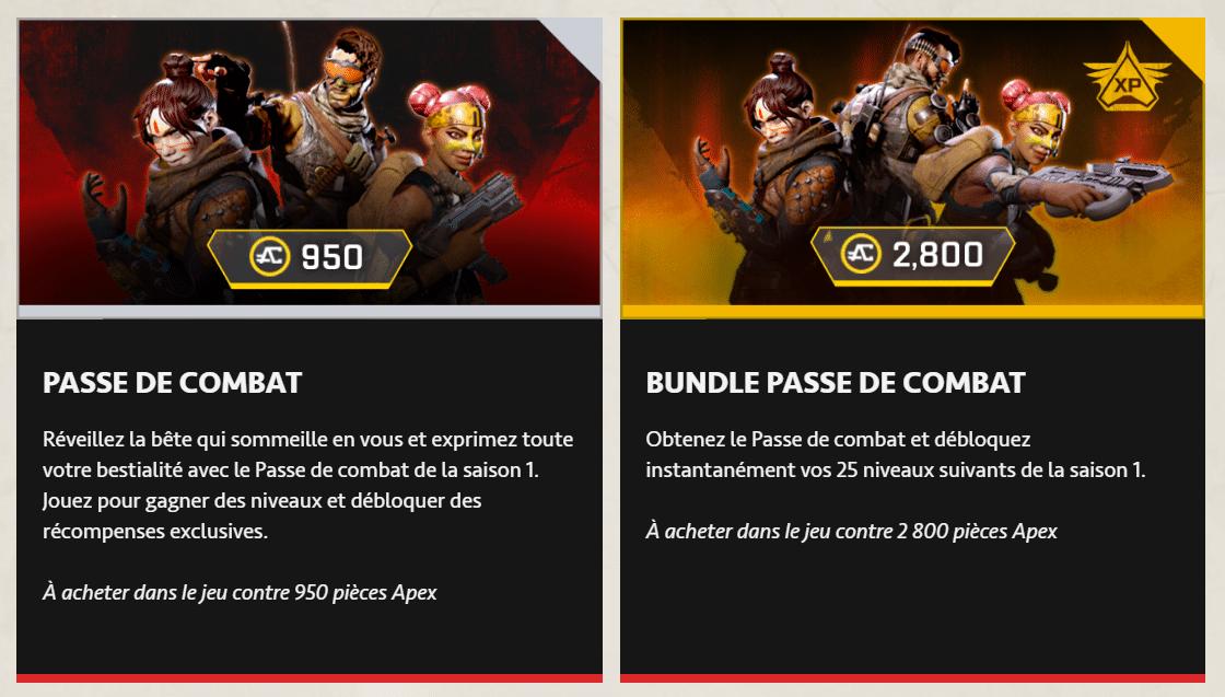 Pass de Combat Apex Legends