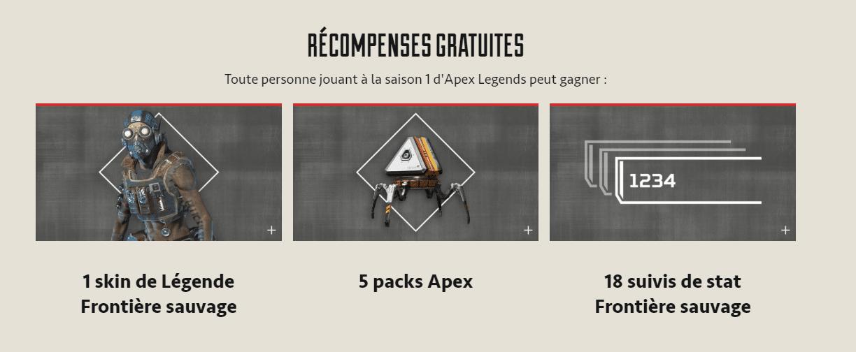 Récompenses Gratuites Pass de Combat Apex Legends