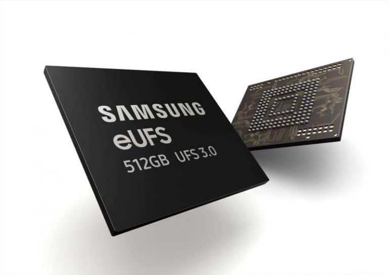 Puce SAMSUNG UFS 3.0