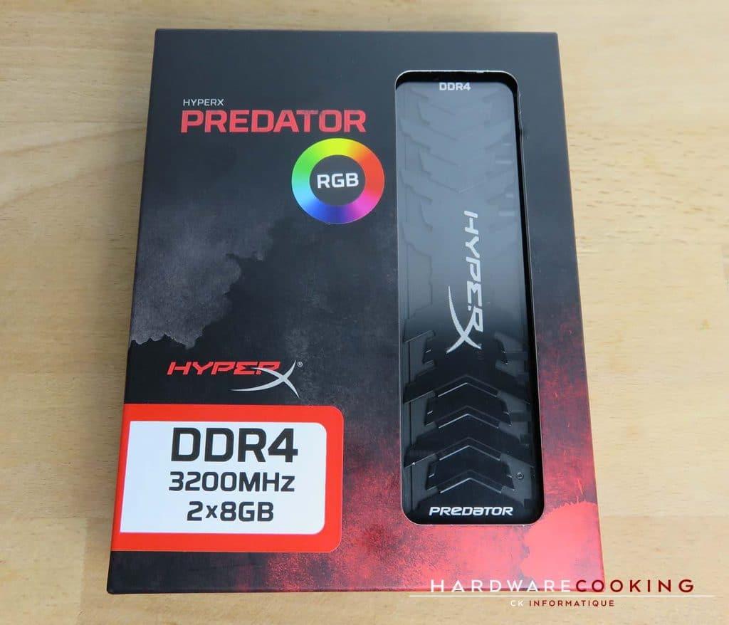 Test HyperX Predator RGB DDR4 packaging