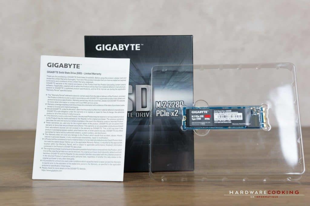 Test SSD GIGABYTE M.2 PCIe bundle