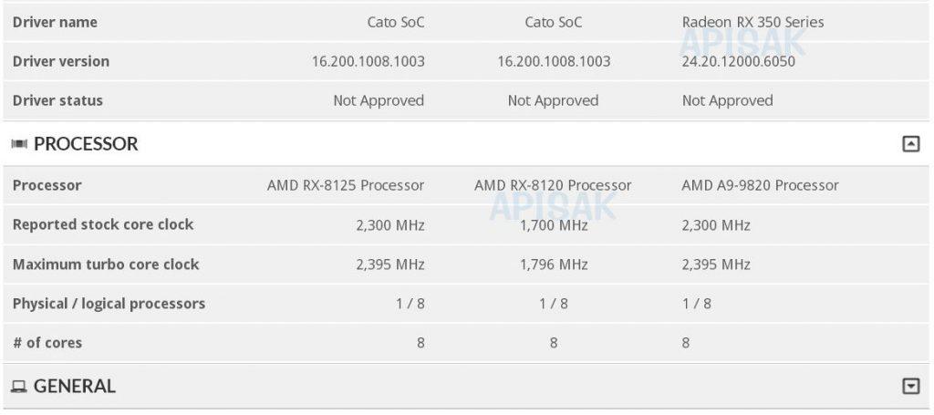 Processeur AMD Soc Cato
