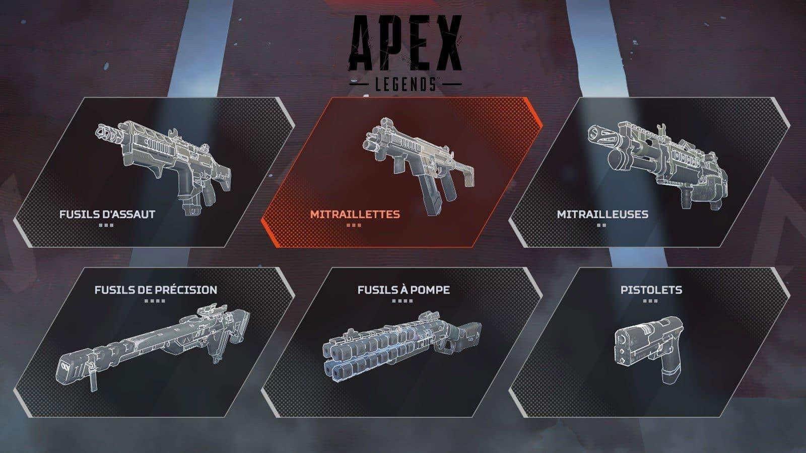 Armes Apex Legends