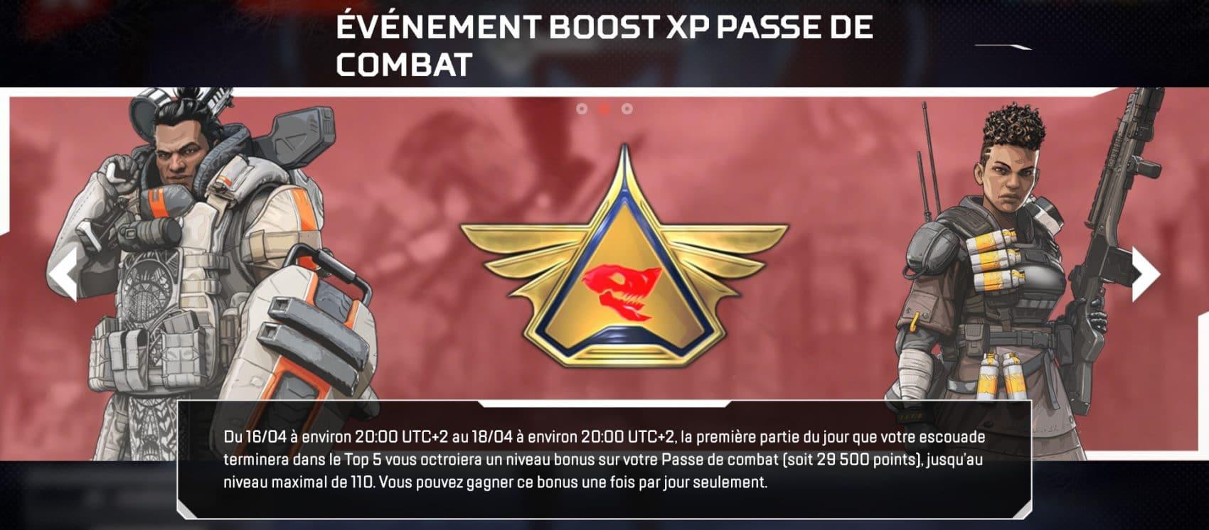 Boost XP Pass de combat