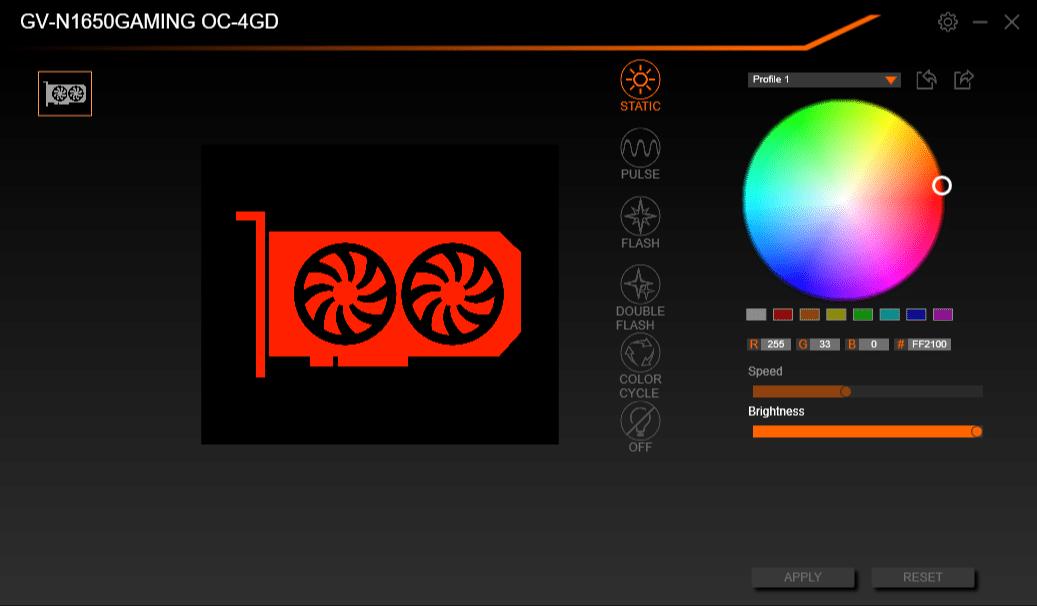 Logiciel Gigabyte RGB Fusion 2.0