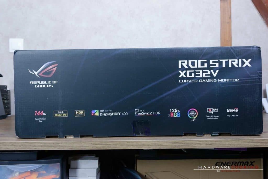 Test écran ASUS ROG XG32VQR carton
