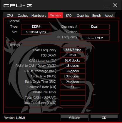 Test Ballistix Elite 3600 MHz CPU-Z