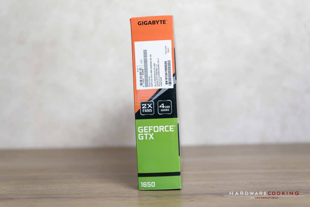 Boîte carte Gigabyte GTX 1650 Gaming