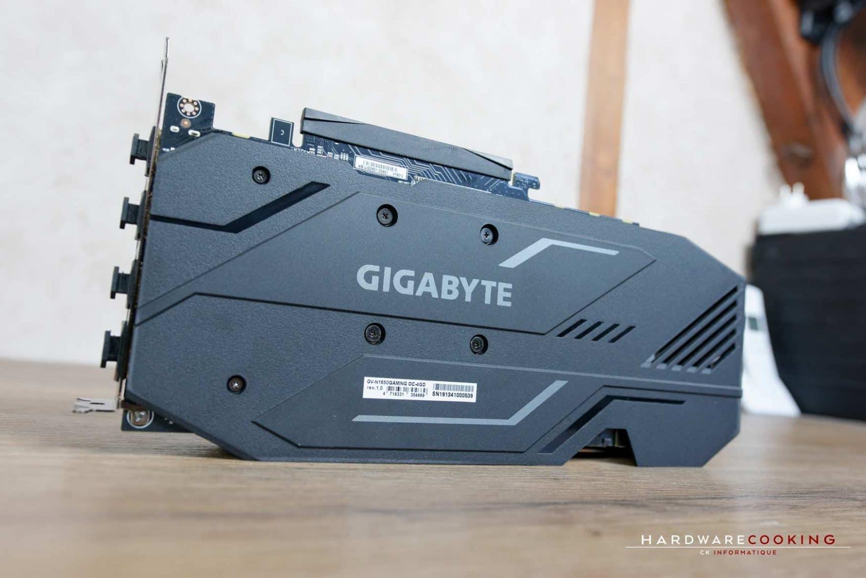 Backplate carte graphique Gigabyte GTX 1650 Gaming OC 4G
