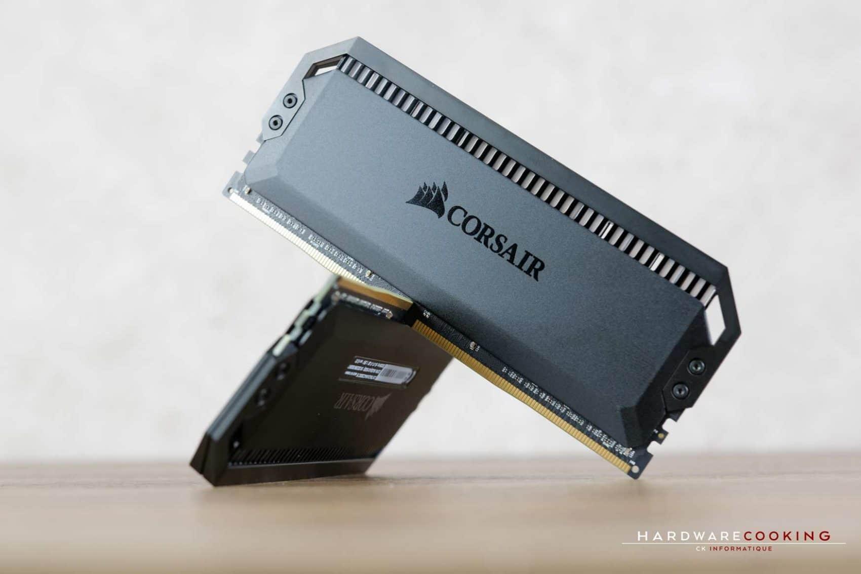 Mémoire DDR4 Corsair Dominator Platinum RGB 64 Go 4 x 16 Go C15