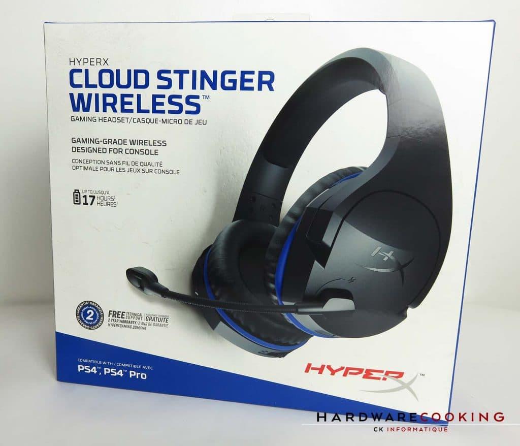 casque HyperX Cloud Stinger Wireless boite