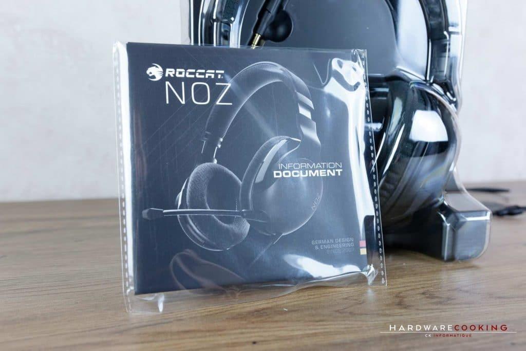 Packaging casque Roccat Noz