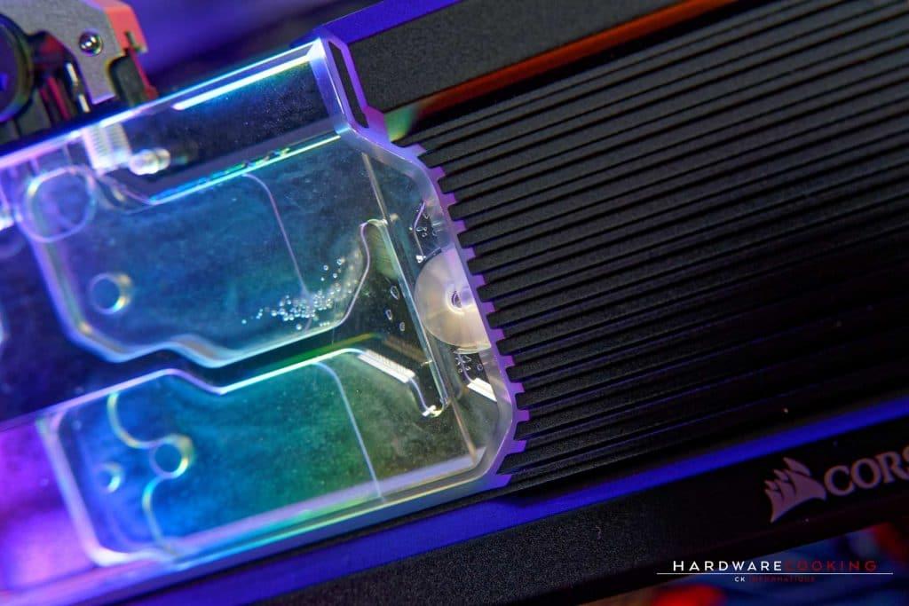 Indicateur de flux waterblock GPU
