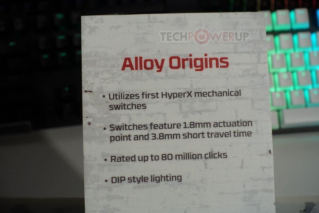 HyperX Alloy Origins caractéristiques