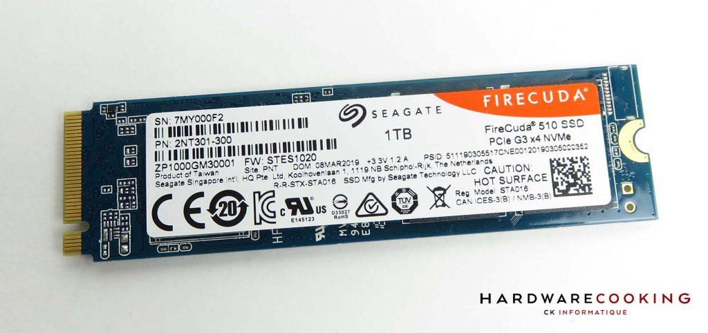SSD Seagate FireCuda 510 verso