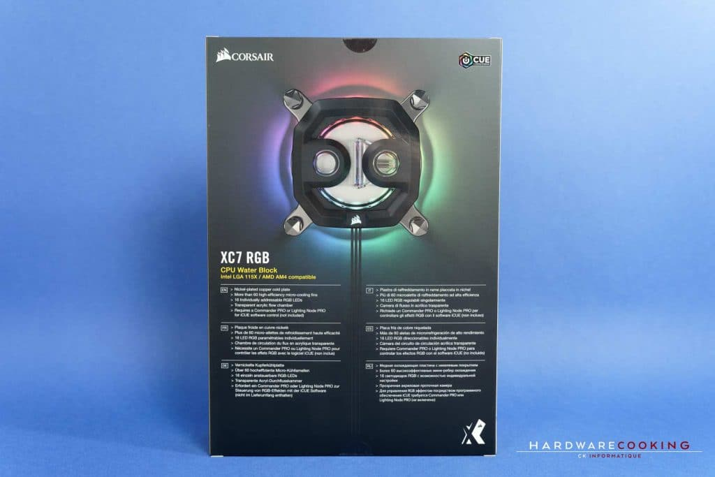 Waterblock CPU Corsair Hydro X XC7