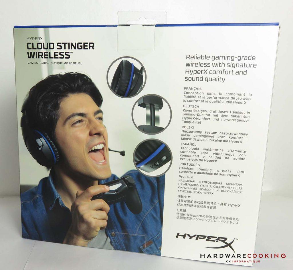 HyperX Cloud Stinger Wireless boite