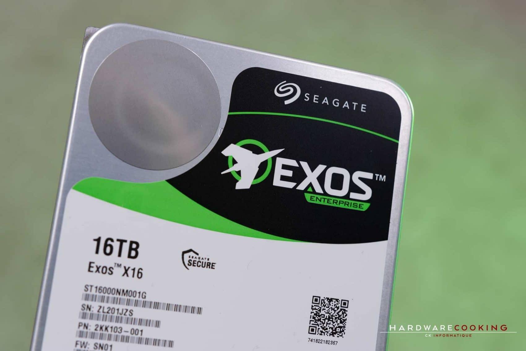 Test HDD Seagate Exos X16