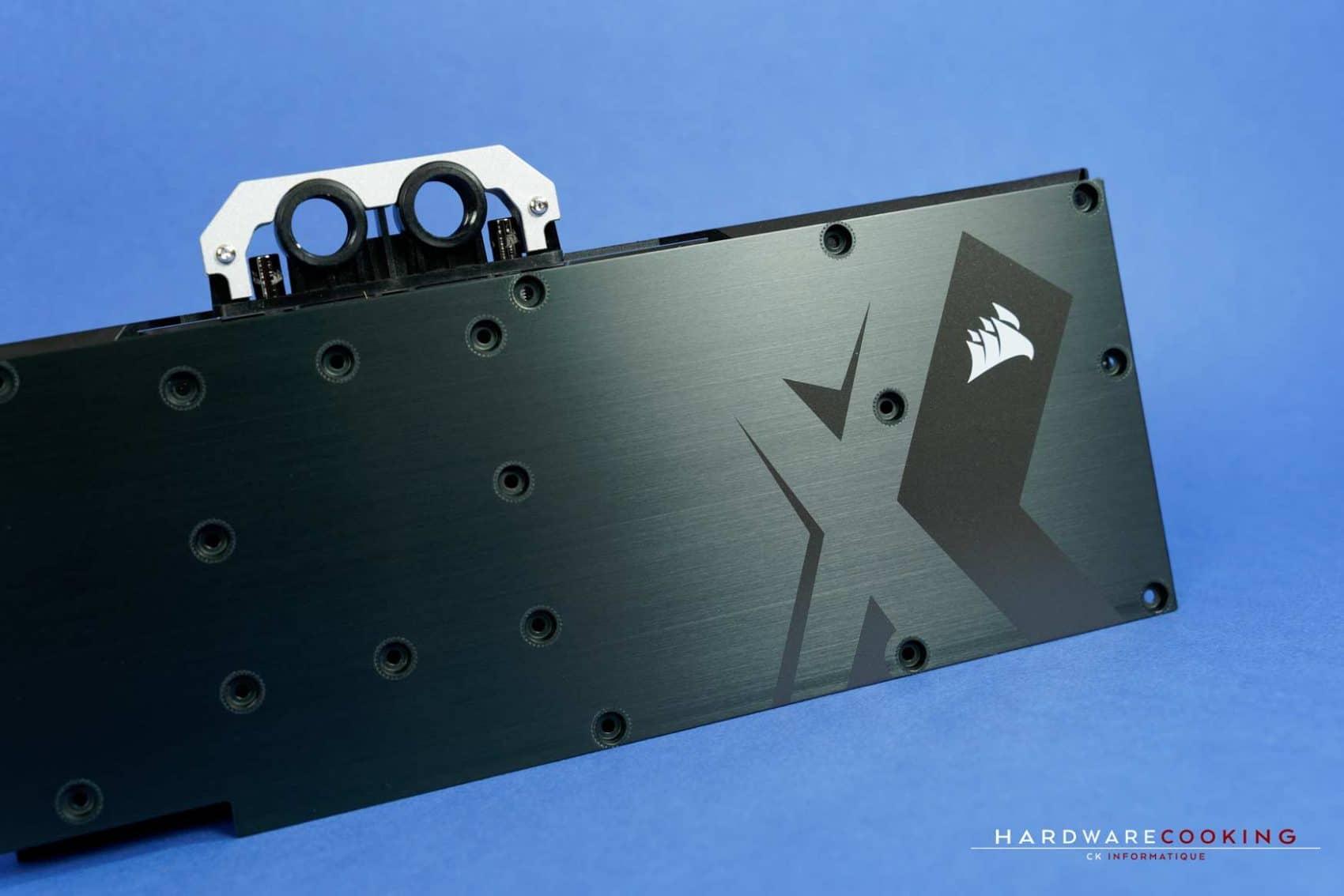 Backplate waterblock GPU Corsair XG7 RGB