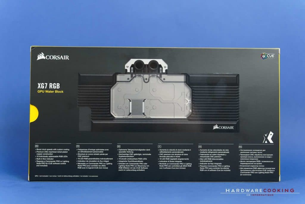 Waterblock GPU Corsair Hydro X Series XG7 RGB