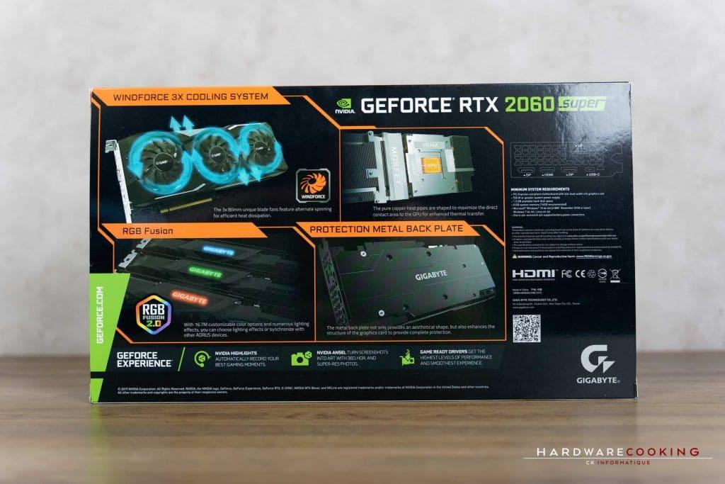 Carton Gigabytre RTX 2060 SUPER
