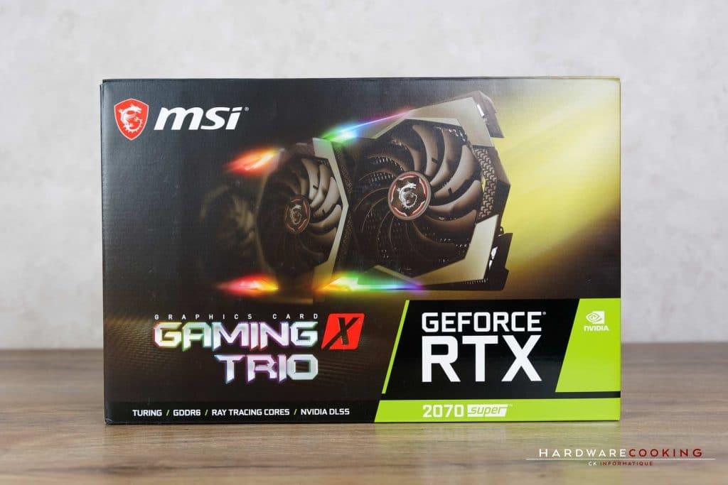 Carton de la Carte graphique MSI RTX 2070 SUPER Gaming X TRIO