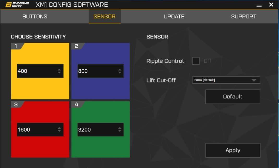 Logiciel XM1 Config Software
