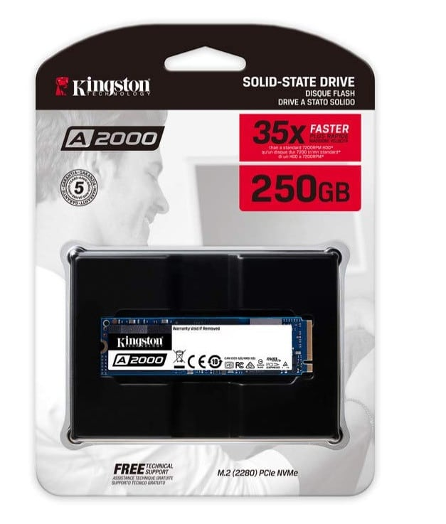Kingston A2000 SSD boîte