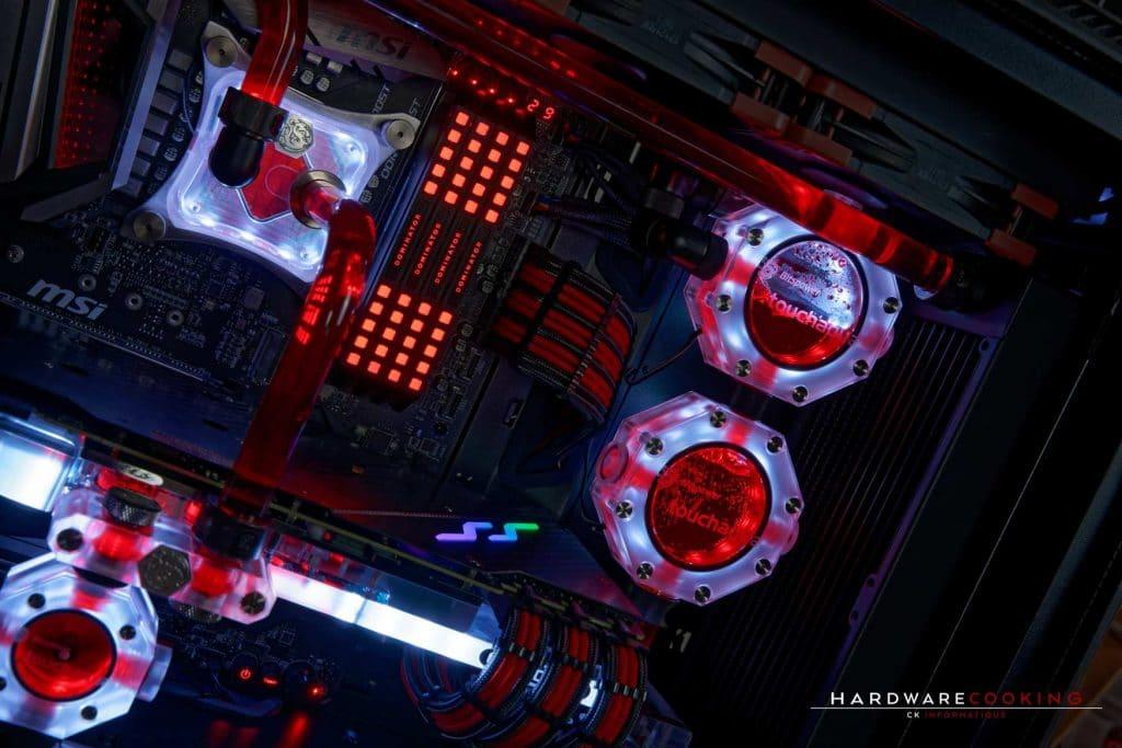 PC full MSI en watercooling custom par hardwarecooking et CK Informatique