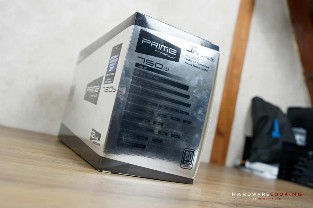 Test alimentation Seasonic Prime Ultra 750 W Titanium