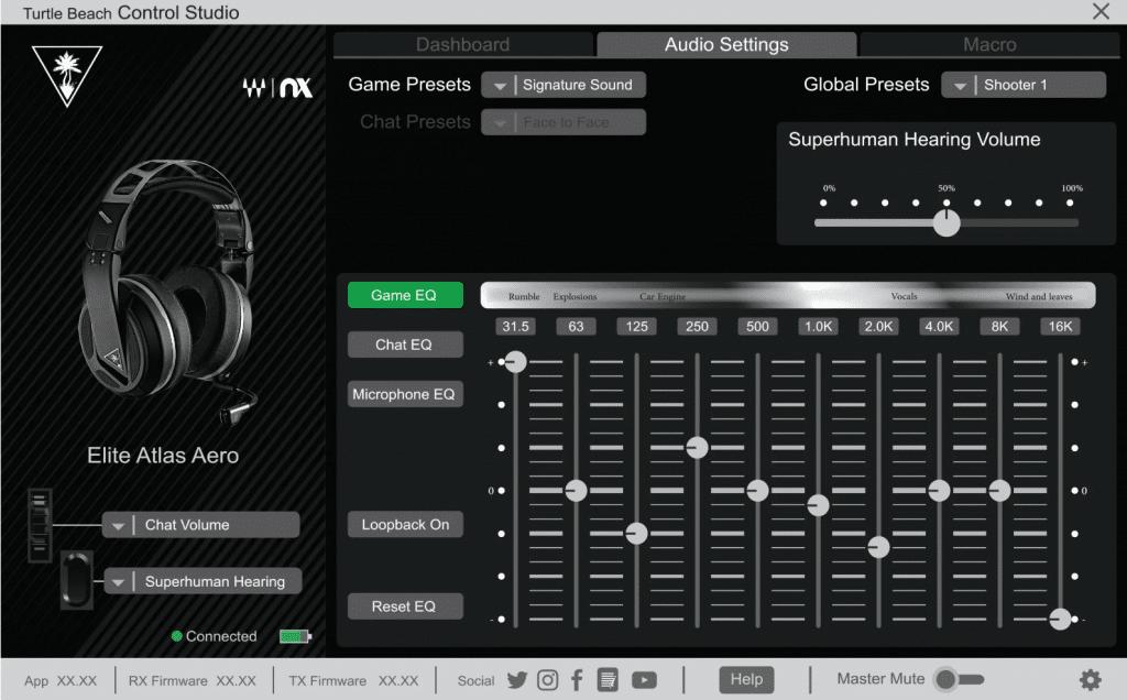 Turtle Beach Control Studio Audio Settings