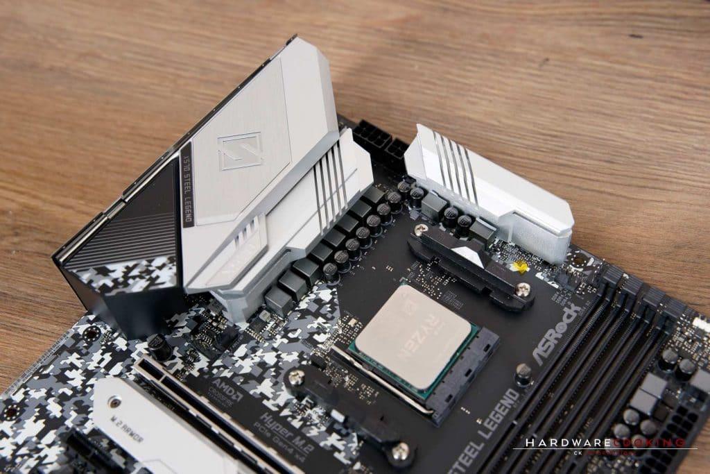 système de refroidissement VRM Asrock X570 Steel Legend
