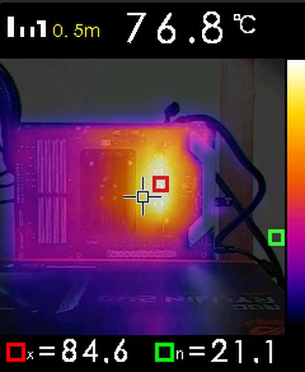 caméra thermique température VRM ASRock X570 Steel Legend