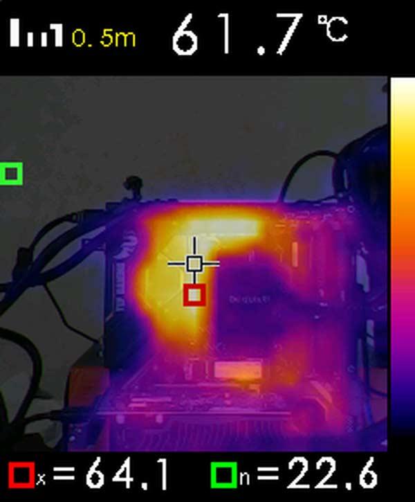 caméra thermique température VRM ASUS TUF GAMING X570-PLUS