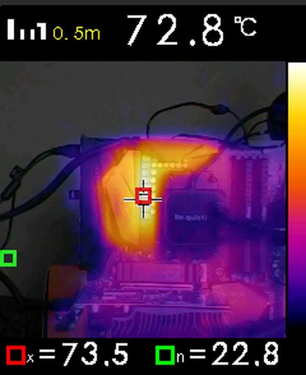 caméra thermique température VRM Gigabyte X570 AORUS ELITE