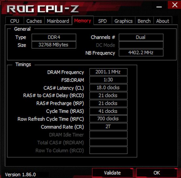 CPU-Z overclcoking RAM DDR4 G.SKILL Trident Z NEO 32 Go 4000 MHz