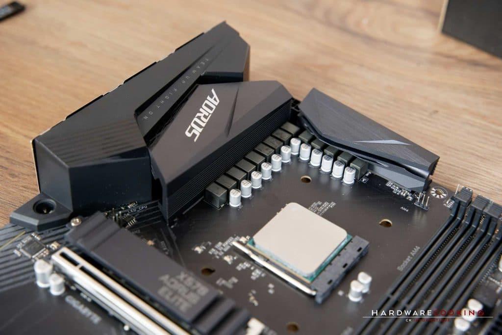 Système de refroidissement Gigabyte X570 Aorus Elite