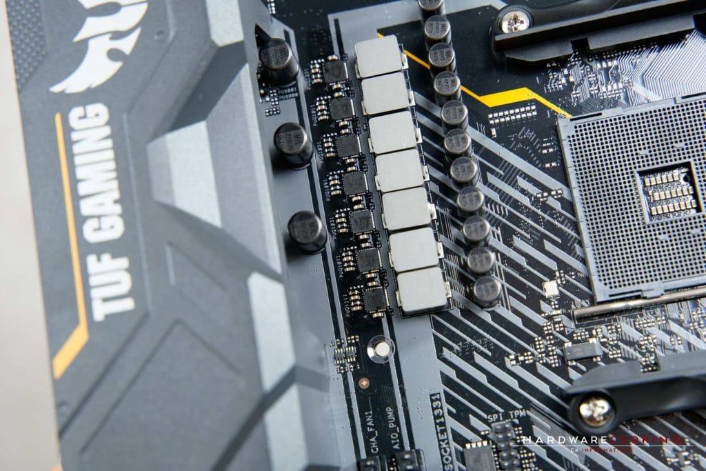 ASUS TUF X570-PLUS refroidissement VRM