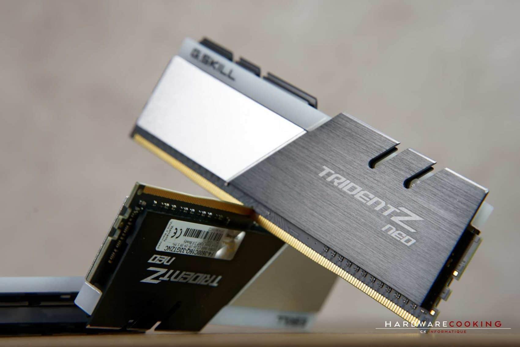 Test mémoire G.SKILL Trident Z NEO 32 Go 3600 MHz C16 DDR4
